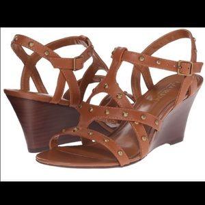 Lauren by Ralph Lauren studded wedge sandals